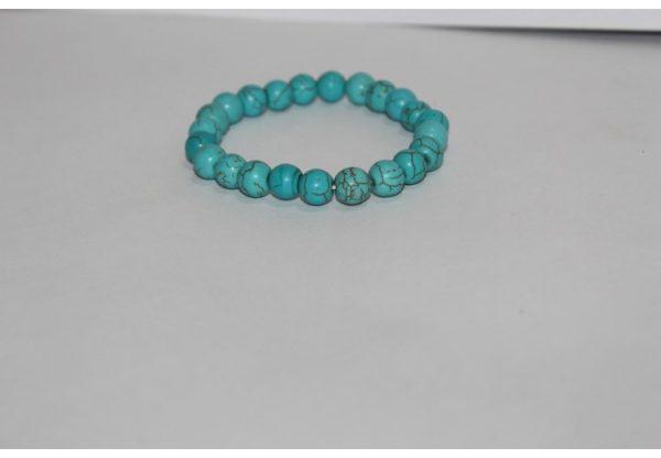 8mm turquoise beads bracelet