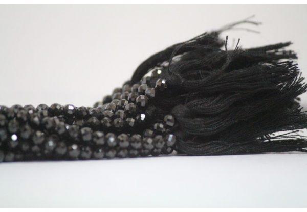 black spinel round beads