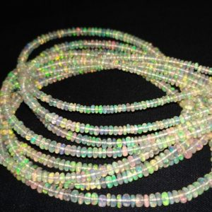 opal rondelle beads