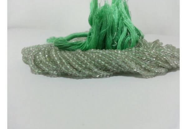 green amethyst rondelle beads