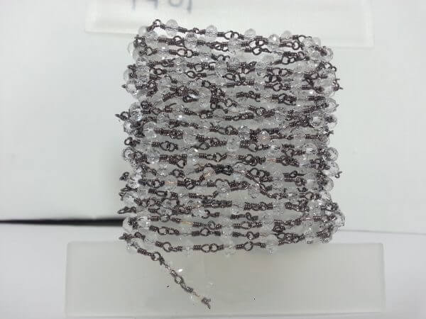 crystal rosary chain