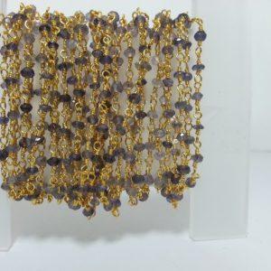 iolite rosary chain