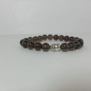 8mm smoky quartz bracelet