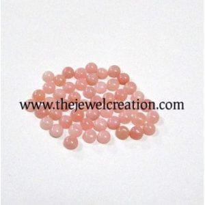 3mm pink opal round