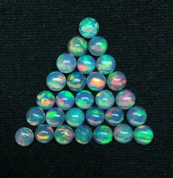 6mm ethiopian opal lot