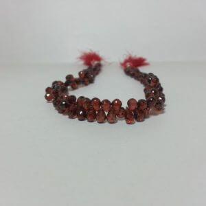 red garnet drops beads