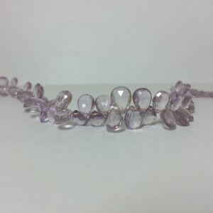pink amethyst pear beads