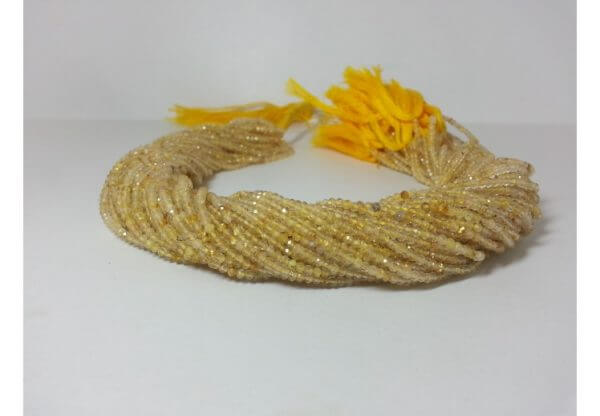 2mm golden rutile beads