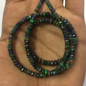 black ethiopian opal beads
