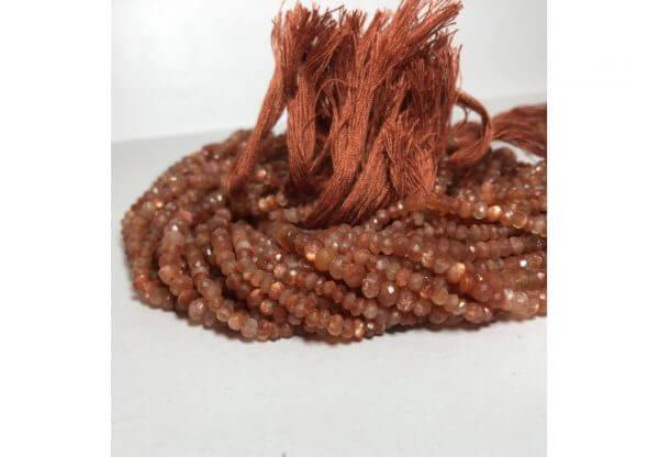 4mm sunstone beads