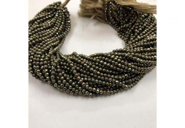 pyrite round beads
