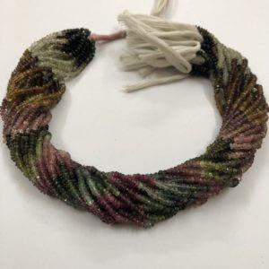 3mm tourmaline beads