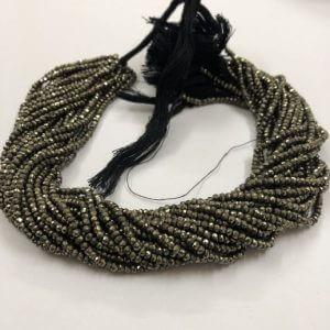 3mm pyrite beads