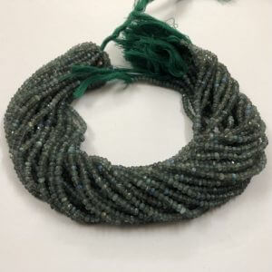 4mm green labradorite beads