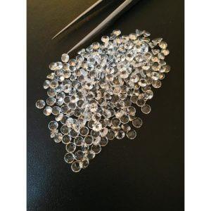 4mm white topaz gemstone