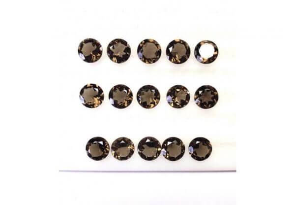 8mm smoky quartz gemstone