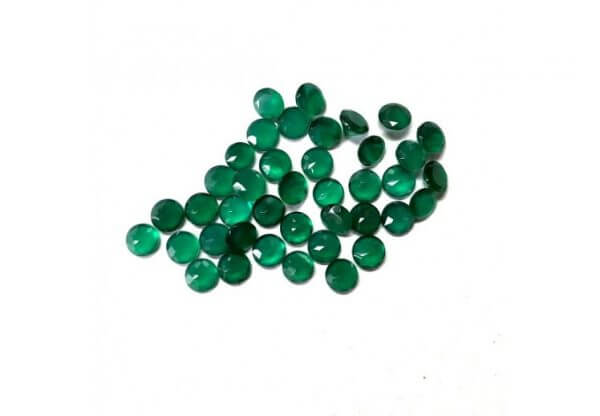 6mm green onyx gemstone
