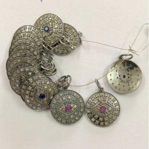 sapphire diamond charms
