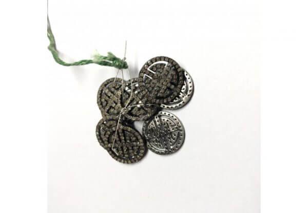 pave diamond round charms