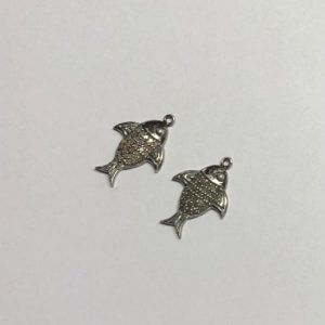 pave diamond fish charm