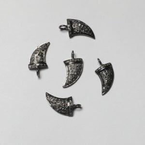 horn diamond charms