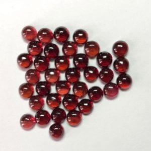 5mm red garnet round