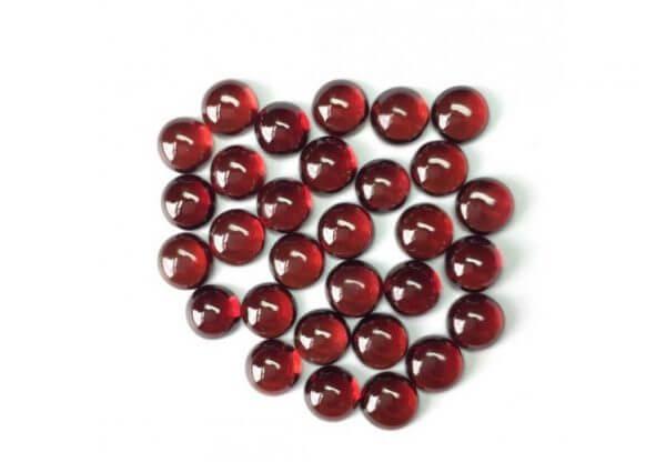 6mm red garnet round