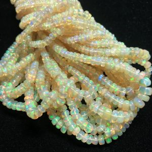 yellow opal smooth beads