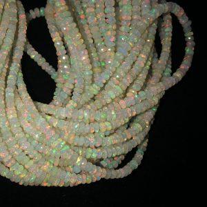 white ethiopian opal beads