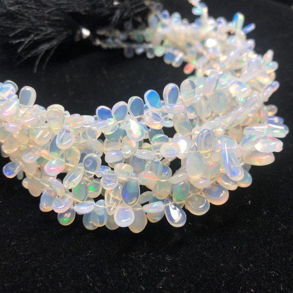 opal pear beads
