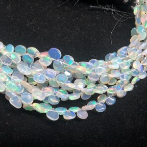 opal heart beads